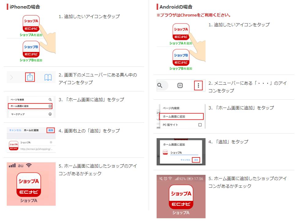 ナビ アプリ ec